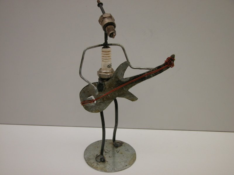 recycle figuur - gitarist
